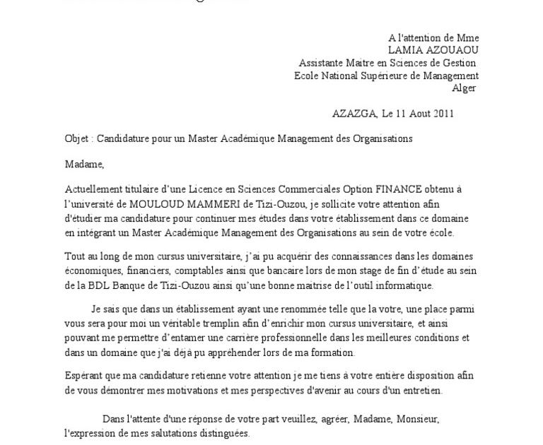 lettre de motivation doctorat exemple pdf