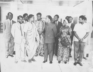 President Kwame Nkrumah and the Ghana Association of Journalists. Ghana under Nkrumah's Convention People's Party government published numerous revolutionary newspapers and journals. Ghana Television was first directed by Shirley Graham DuBois. by Pan-African News Wire File Photos