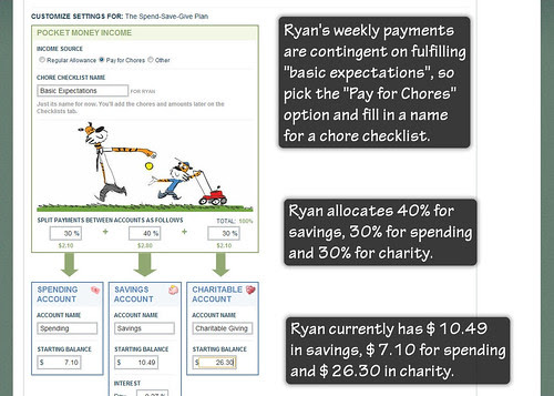 Pick Pay-for-chores and Fill in Splits and Start Balances
