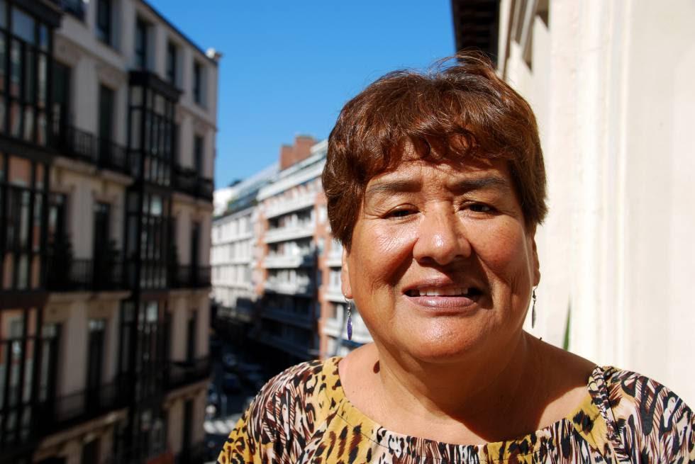 Lucy Mejía Calderón, coordinadora de la Red de Mujeres Organizadas de Lima.