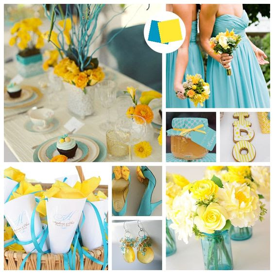 Inspirations For Blue And Yellow Wedding Colors Everafterguide
