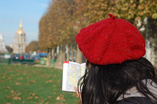 Red Tweed Beret