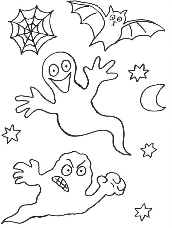 halloween kostenlose malvorlage geister kostenlos