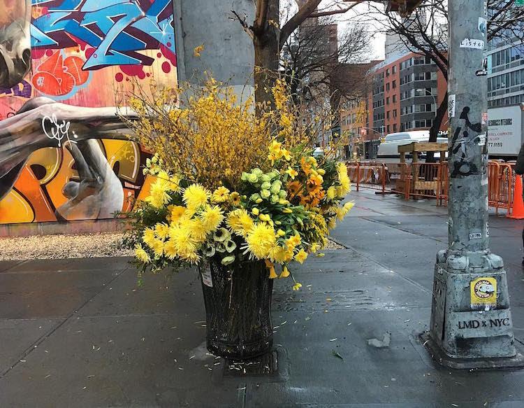 Trash Can Flower Vase Trash Can Flowers Poubelle Vase Flower Flashes Lewis Miller Design