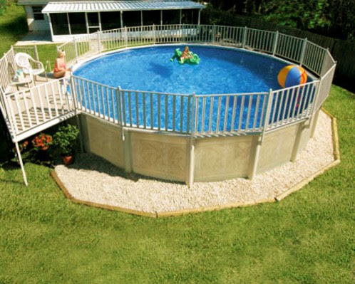 above ground pool | Landscape Designs | Page 2