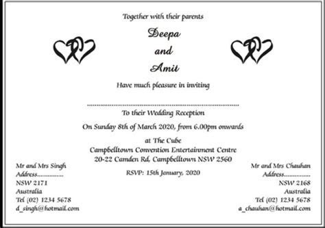 What are some wedding invitation card wordings to give it