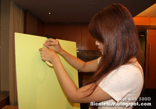 masking tape the canvas