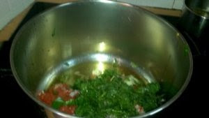 All diced up vegetables in cooking pot