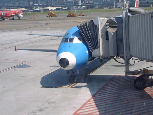 往澎湖的班機