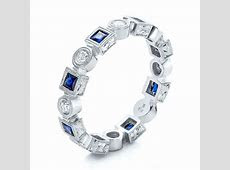 Stackable Diamond And Blue Sapphire Eternity Band #101874   Seattle Bellevue   Joseph Jewelry