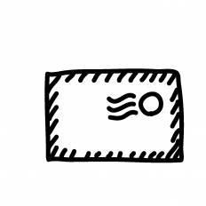 エアメールシルエット イラストの無料ダウンロードサイトシルエットac