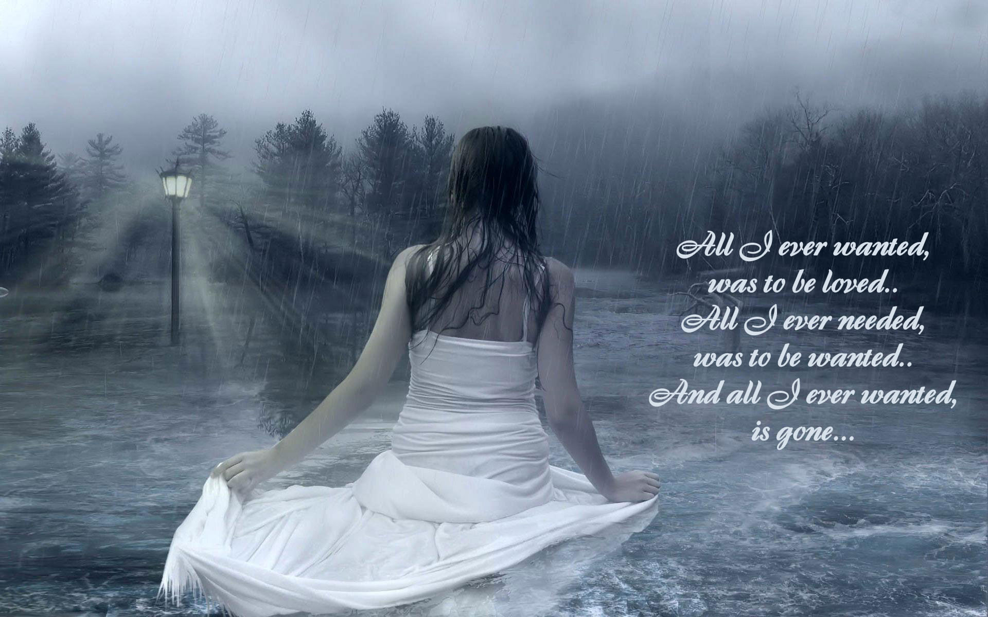 sad love wallpapers with quotes HD wallpaper Sad Love