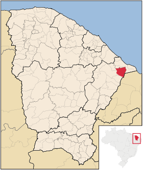 Localização de Jaguaruana