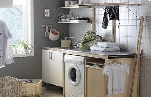 Small laundry room furniture design