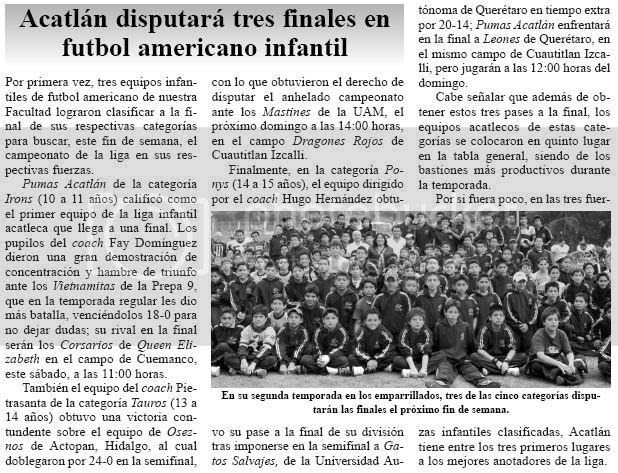 Tres categorías de la conferencia Infantil de los Pumas Acatlán a las finales... DA CLICK EN LA IMAGEN PARA VERLA A CUADRO COMPLETO EN OTRA VENTANA