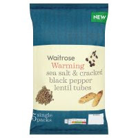 Waitrose Sea Salt & Cracked Black Pepper Lentil Tubes
