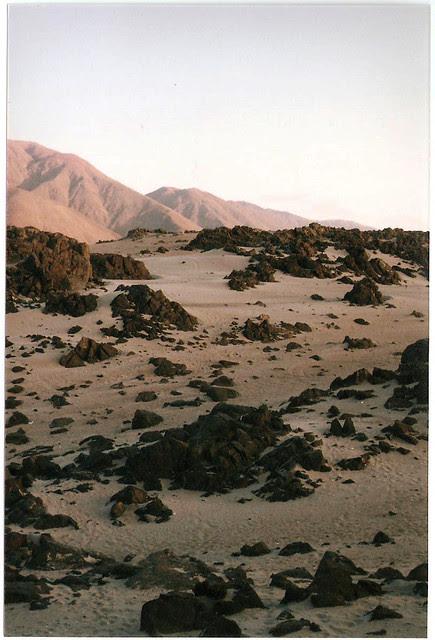 Desert and ocean rocks