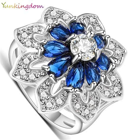 ?Yunkingdom Exaggerated ring white gold ? ?? color color