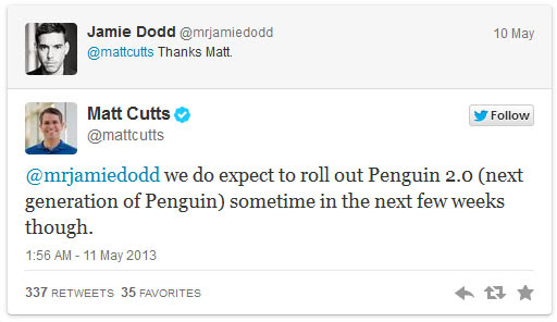 Matt Cutts tweet 2