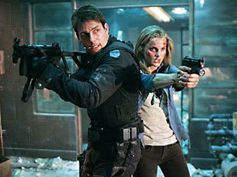 Tom Cruise and Keri Russell in M:I:3.