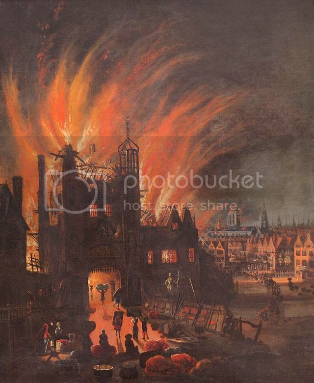 Ludgate in flames