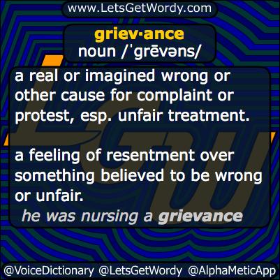 Grievance 03/22/2014 GFX Definition