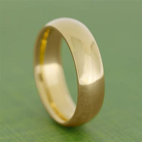 24k Gold Ring, Yellow Gold Wedding Band, Solid Gold Ring