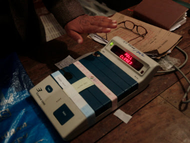 File image of an EVM. Reuters