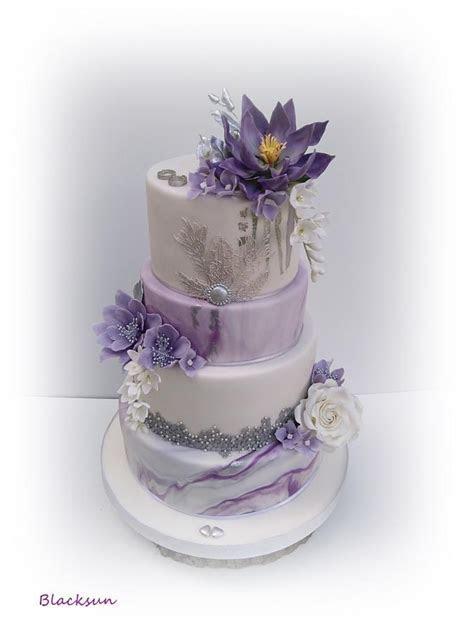 Marbled wedding cake   cake by Blacksun   CakesDecor