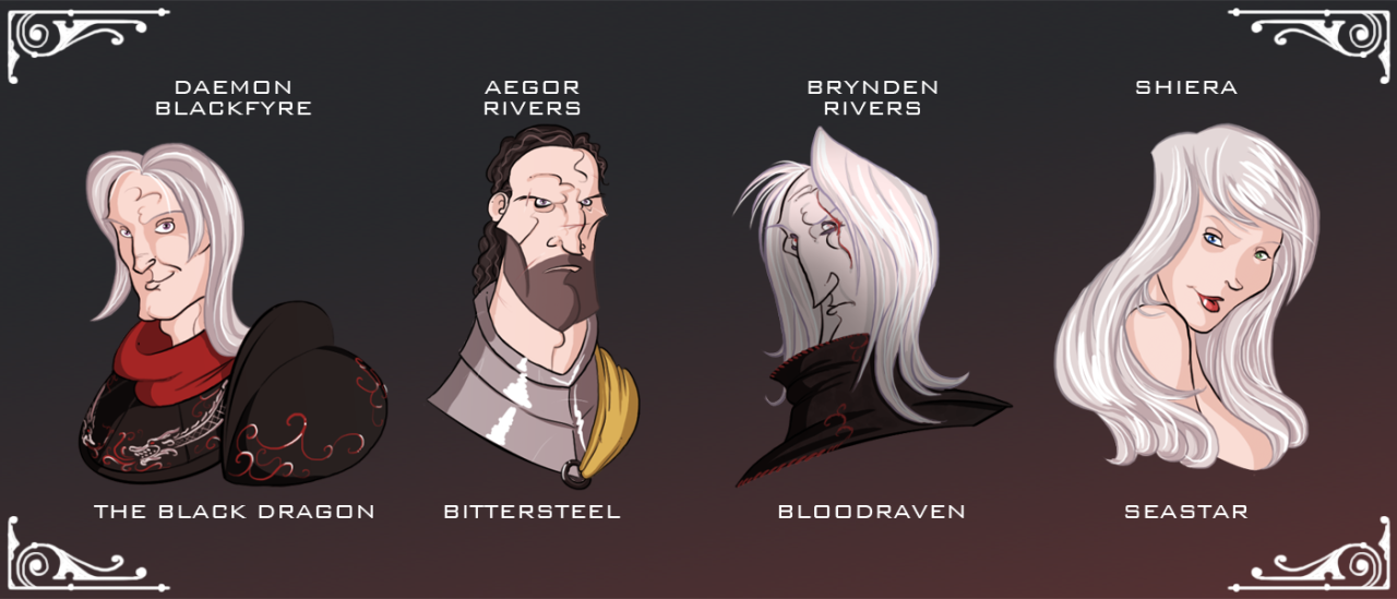 Aegon IV had many bastards, but these four, the Great Bastards, had just as much impact on history as any Targaryen. Daemon Waters was the result of Aegon's affair with his cousin Daena the Defiant (remember her?) At a very young age Daemon...