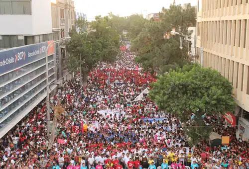 Masiva Marcha por la Vida en Piura. Foto: Arzobispado de Piura