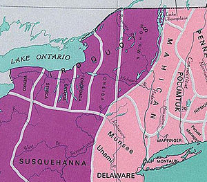 Early Indian tribes of the US state of New York