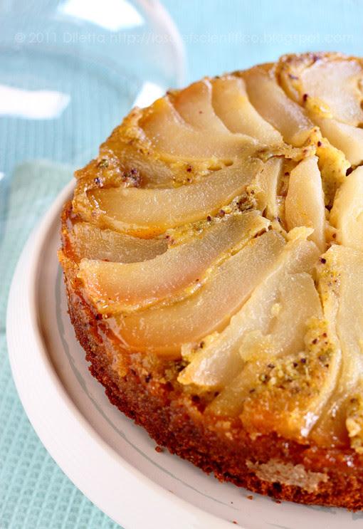 Pear & Pistachio Upside Down Cake