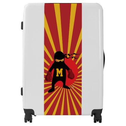 Monogram. Kawaii Cute Ninja for Nerd Geek. Luggage