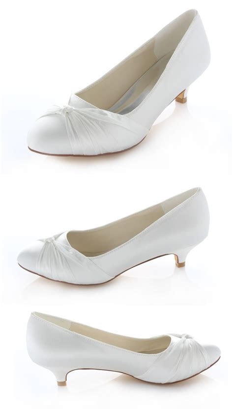 17 Best ideas about Low Heel Wedding Shoes on Pinterest