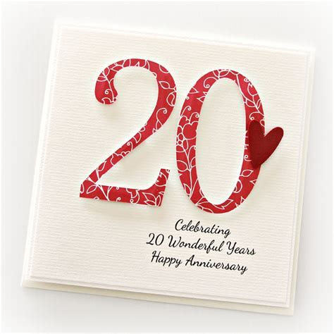 20th Wedding Anniversary Gift