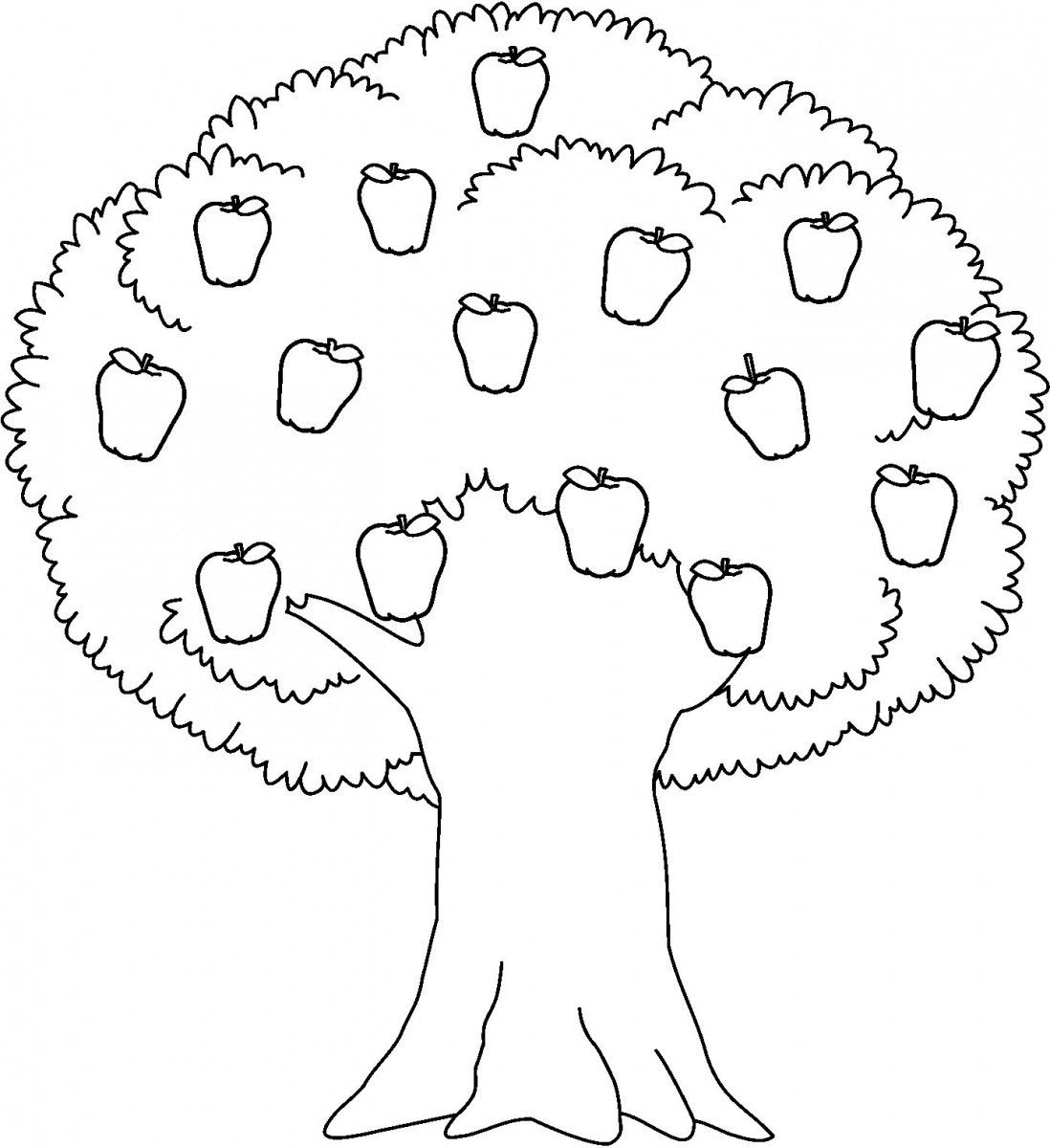 6700 Top Coloring Pages Of Apple Tree  Images