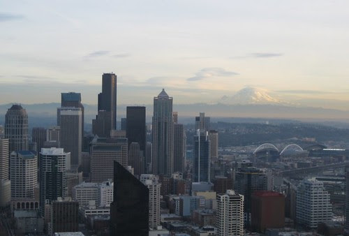 Mount Rainier & Downtown Seattle