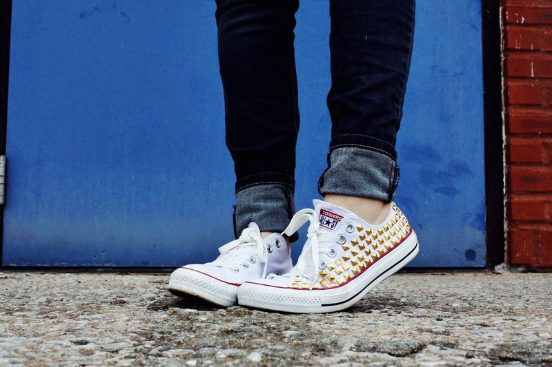 Studded Converse (easiest DIY ever!!)