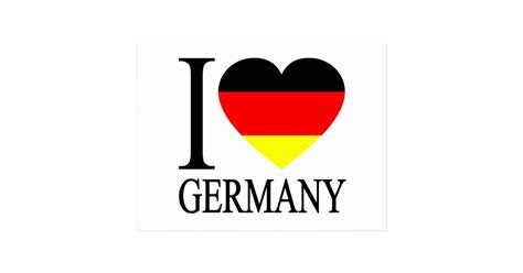 I Love Germany German Flag Heart Postcard   Zazzle.com
