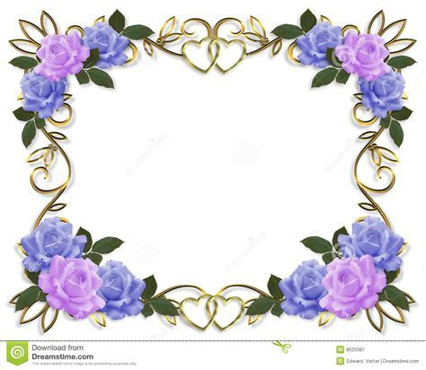 Wedding Invitation Roses Border Royalty Free Stock