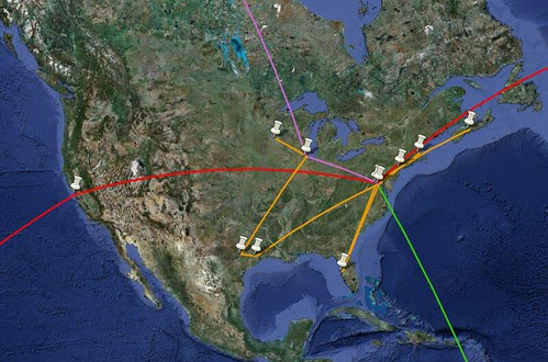 2010 North American Flights