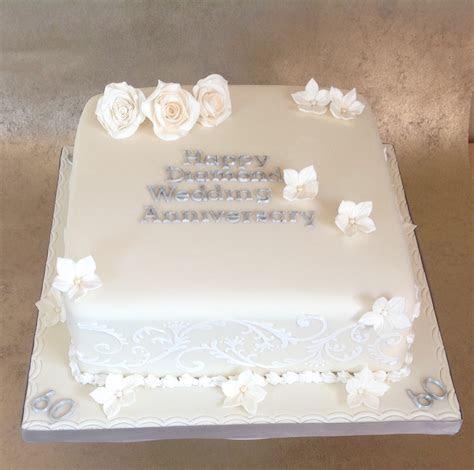 Diamond wedding anniversary cake ideas   idea in 2017