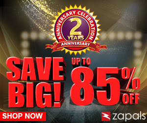 Up to 85% Off at Zapals 2nd Anniversary.