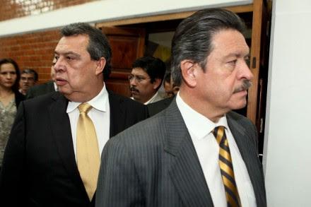 Aguirre y Navarrete después de una conferencia de prensa en octubre pasado. Foto: Germán Canseco