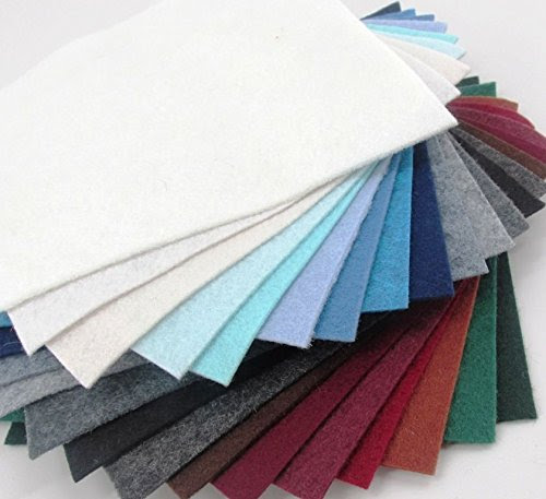 Merino Wool Blend Winter Colors Felt