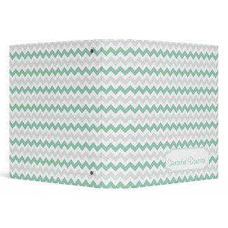 Jade Light Gray Zigzag Pattern Personalized Album