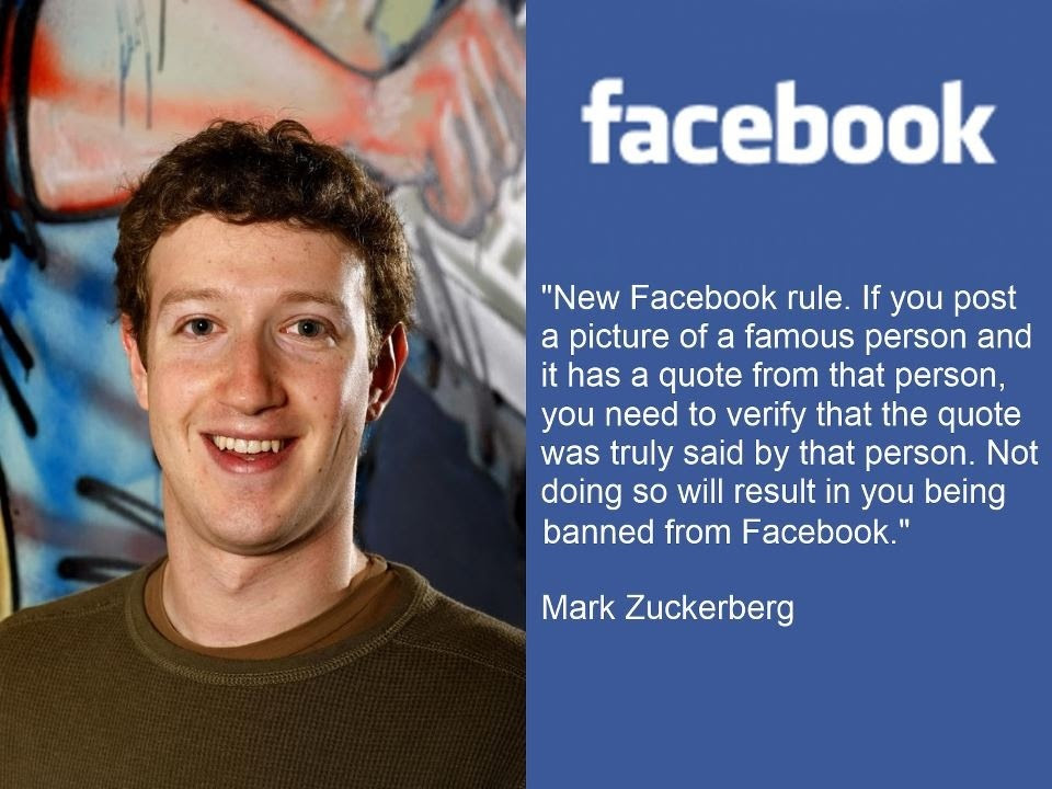 Facebooks New Policy Must Be Ole Mark Is Sick Of Fake Quotes