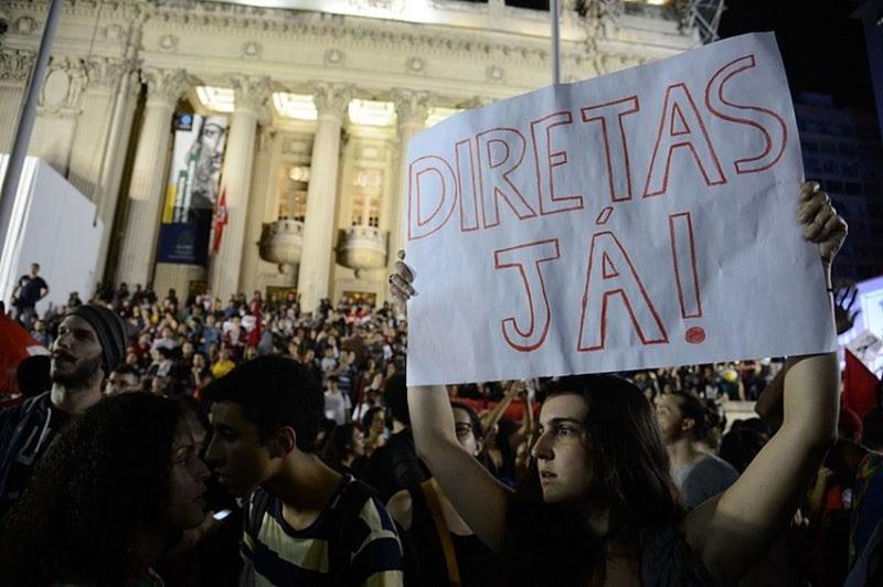 <p>Manifestación en Río de Janeiro contra el impeachment a Dilma Rouseff</p>