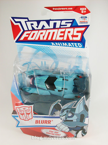 Transformers Blurr Animated Deluxe - caja